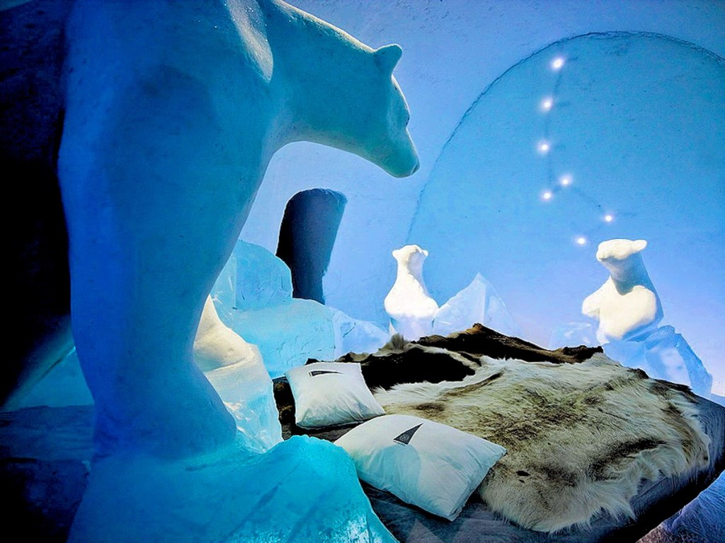 cool break at icehotel from sweden. Black Bedroom Furniture Sets. Home Design Ideas