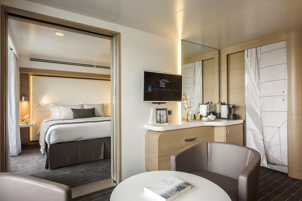 Le Soléal cruise ship; Suite Prestige Deck 5 or 6