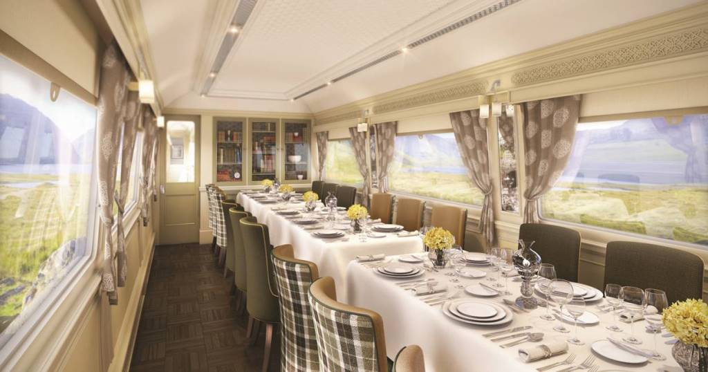 Belmond Grand Hibernian Train Wexford Dining car