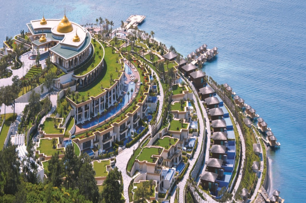 Jumeirah bodrum palace opens on turkish riviera for Special hotels in the world