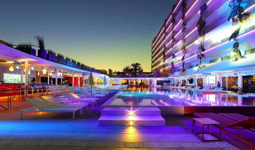 The Hard Rock Hotel Is One Of Best Luxury Hotels In Ibiza Get Your Flights Booked And Head Out To White Sands Turquoise Waters Hidden Beauty