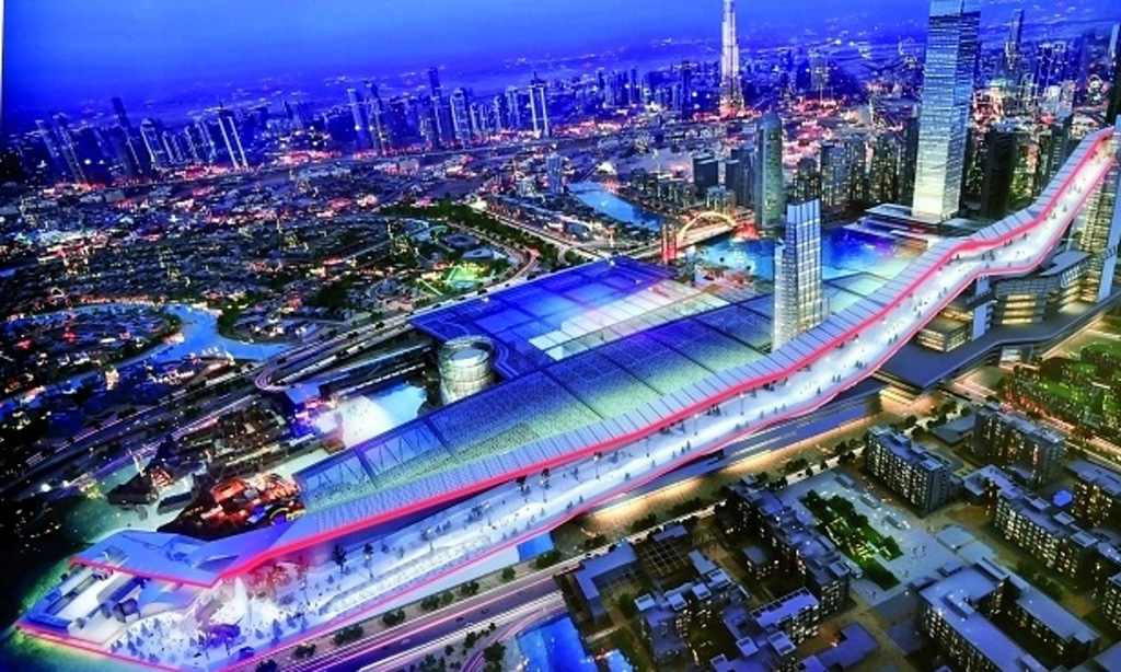 Dubai to build the largest indoor ski slope for World biggest hotel in dubai