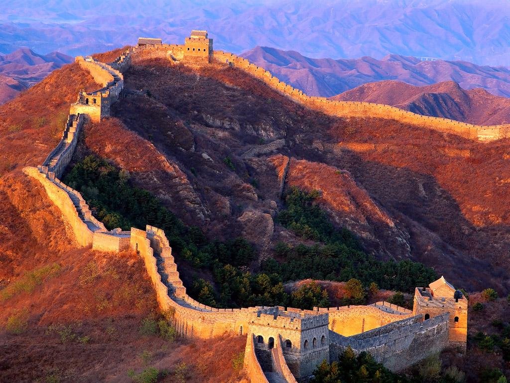 great wall of china fall