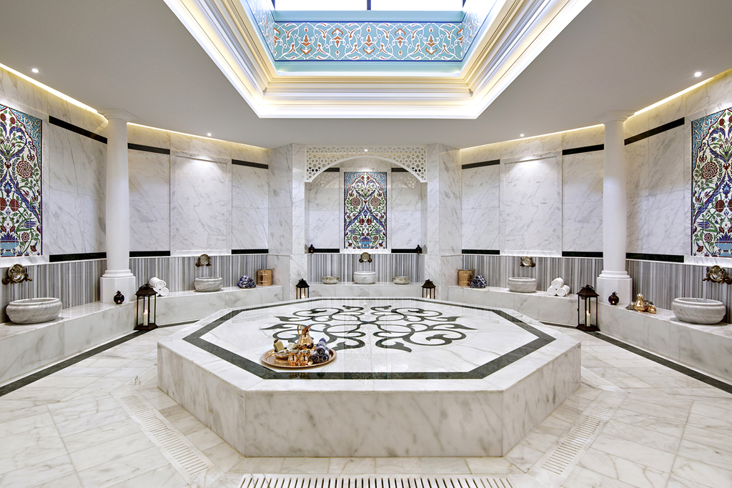 Anantara the palm unveils new luxury turkish hammam for Top hotels in dubai 2015