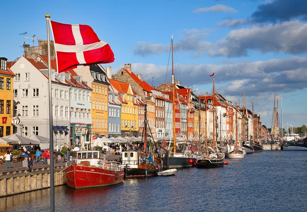 COPENHAGEN, DENMARK - AUGUST 25: unidentified people in open caf