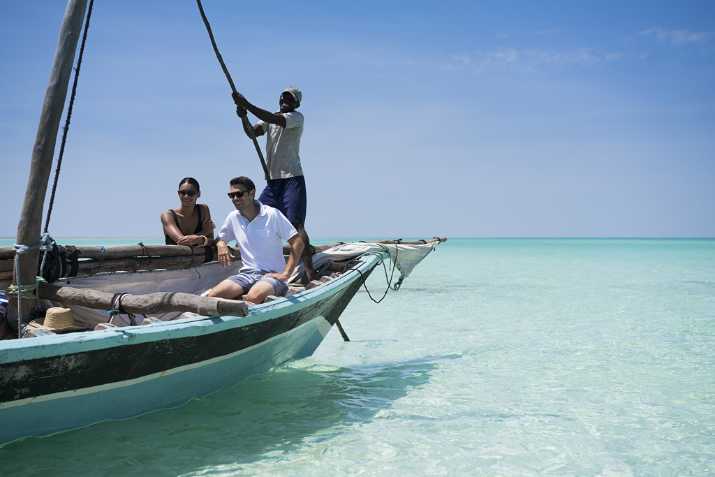 Anantara Medjumbe Island - traditional dhow sailing lesson