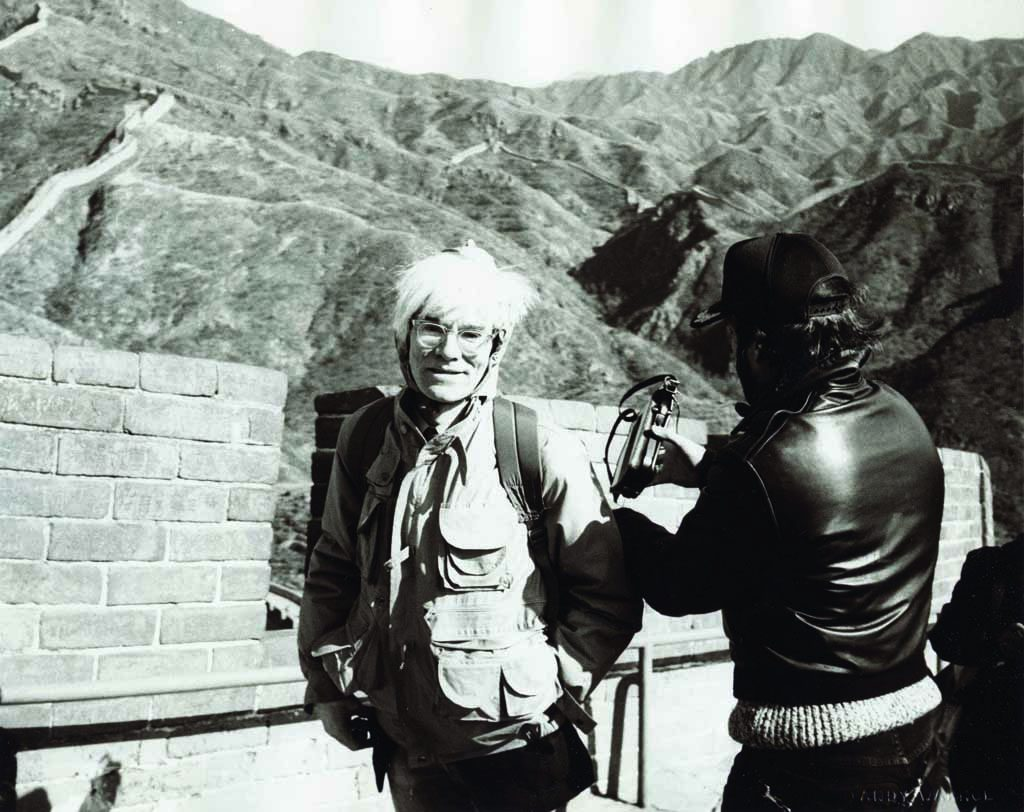 Andy Warhol at the Great Wall, 1982 - Image courtesy of Phillips (mid res)