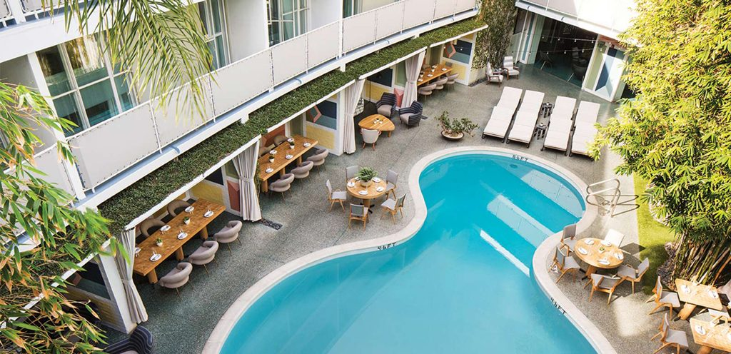 Avalon Hotel Restaurant Palm Springs
