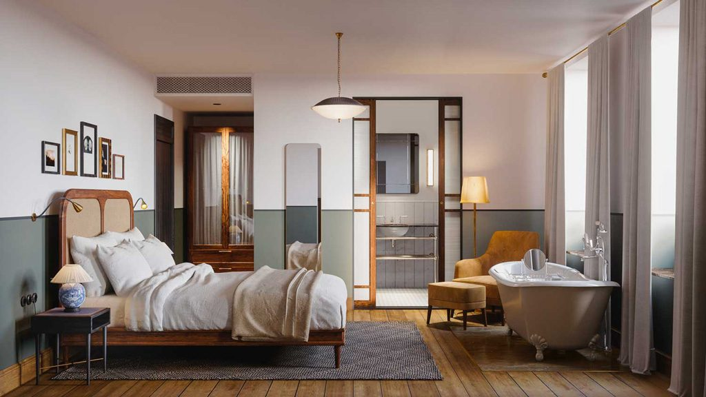 sanders the first luxury boutique hotel to open in copenhagen. Black Bedroom Furniture Sets. Home Design Ideas